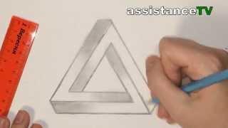 3D треугольник / Как нарисовать 3D фигуру самому(Как нарисовать 3D фигуру с помощью простого карандаша и линейки на бумаге формата А4 ПОДПИШИТЕСЬ НА КАНАЛ..., 2014-04-15T16:57:54.000Z)