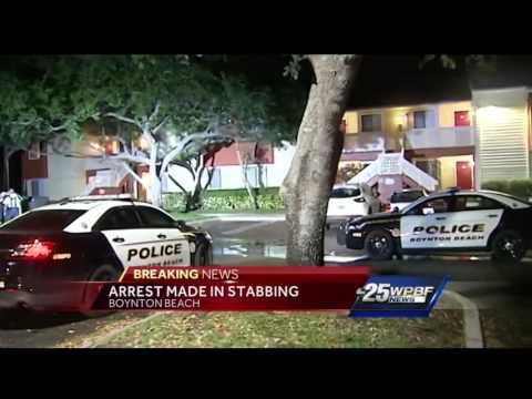 Arrest made in stabbing in Boynton Beach