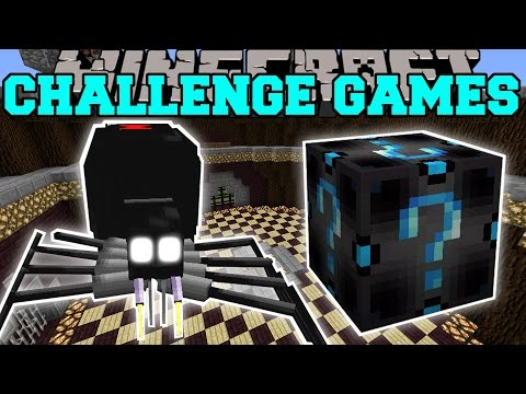Thumbnail: Minecraft: BLACK WIDOW SPIDER CHALLENGE GAMES - Lucky Block Mod - Modded Mini-Game