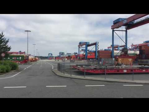 CTA, Container Terminal Altenwerder, 3. Schritt, vom Zwischenlager zum LKW