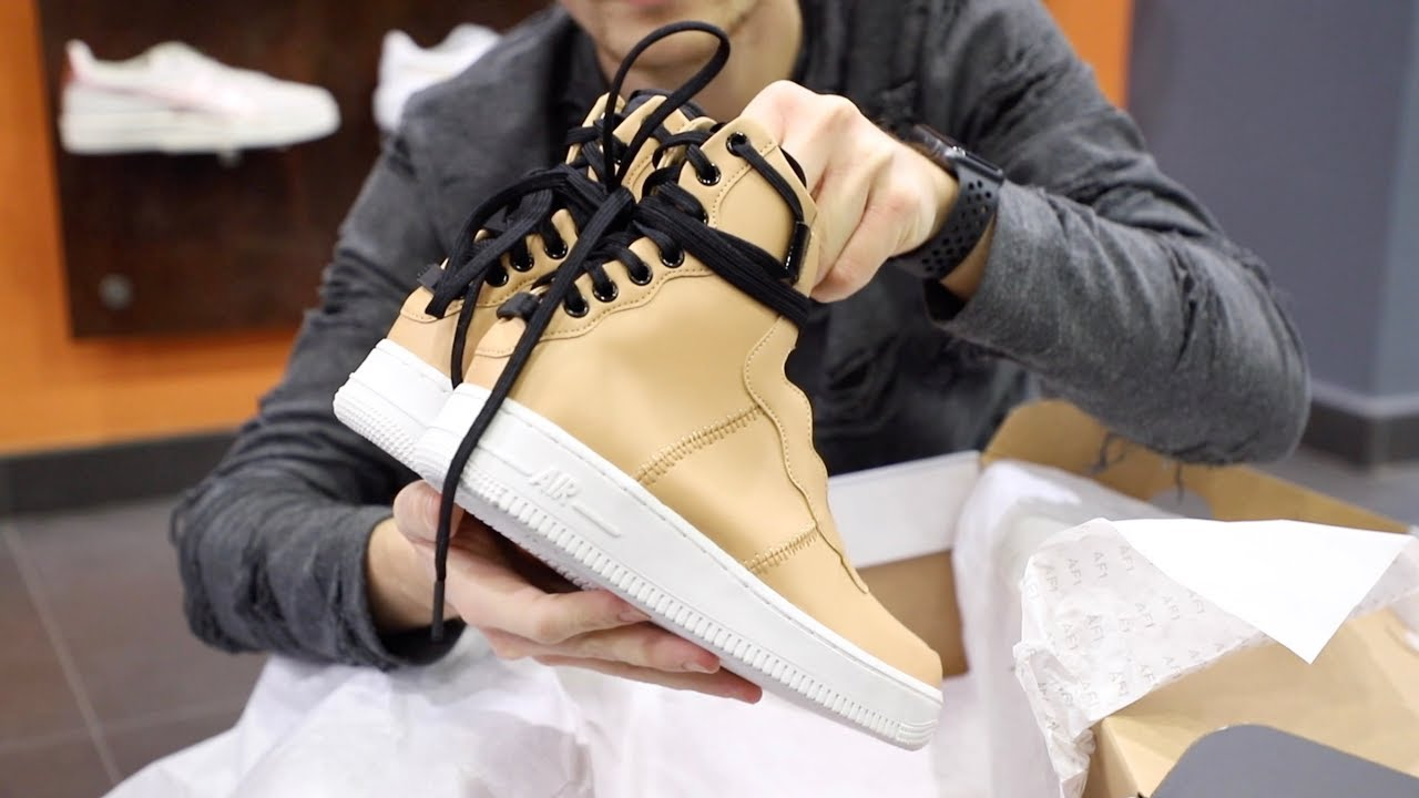 2b4a5e9573b Unboxing Sneakers Nike Air Force 1 Rebel XX Beige AO1525-200 | Freesneak  Shop