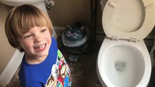 📣EXTREME 🚽 POTTY Training FUN ⎪ Sweetie Fella Aleks PEES on the TOILET Paper!