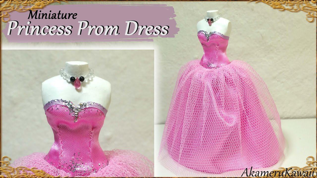 Miniature Prom Dress For Dolls