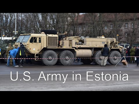 U.S. Army Convoy In Estonia (Pärnu) (1080p)