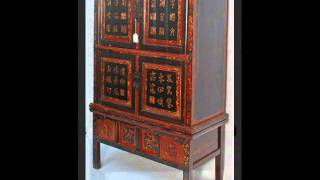 Hokkien Chest On Chest Cabinet With Elaborate Carvings _bk0014y.wmv