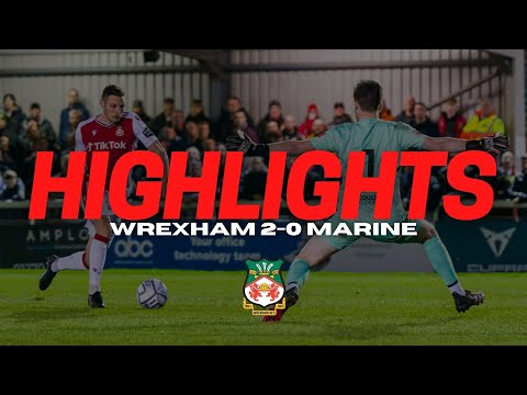 Wrexham Marine Goals And Highlights