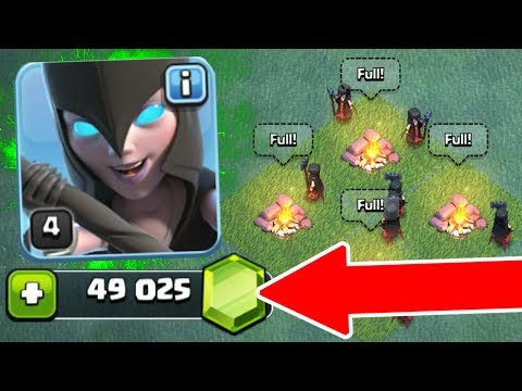 NEW UPDATE GEM SPREE! 🔥 GEMMING THE NIGHT WITCH!! 🔥 Clash Of Clans BUILDERS HALL 6!