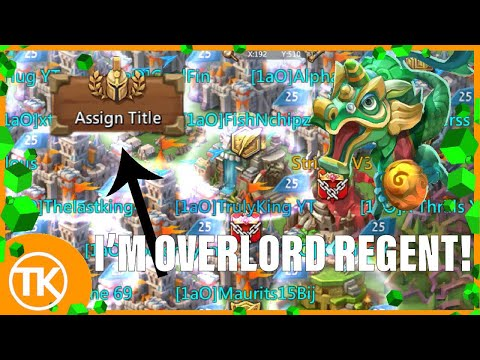 Lords-Mobile | STRIDOX MADE ME OVERLORD REGENT!!