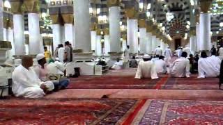 Eid ul Fiter Azan Isha Inside Masjid e Nabwi Madinah Munawarah 19th Aug 2012