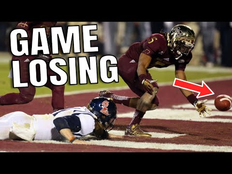 College Football Game Losing Fumbles
