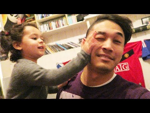 Wrestling with my Niece - James Shrestha