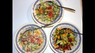 Овощной салат с майонезом, со сметаной или с подсолнечным маслом, РЕЦЕПТЫ, РЕЦЕПТ САЛАТА