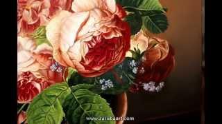 Как рисовать розы. Натюрморт масляными красками. Техника старых мастеров. How to Paint a Rose(https://vk.com/oilartclub http://zarubaart.com/for/ - ответы на вопросы. В этом видео мы рассмотрим процесс рисования роз в вазе..., 2015-03-28T23:41:02.000Z)