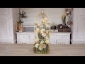 Pink Lisianthus into a Gold Bird Cage Floristry Tutorial
