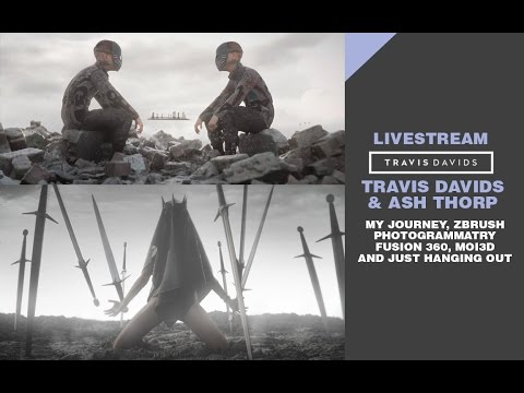 LIVESTREAM - Travis Davids + Ash Thorp | Zbrush, Fusion 360 and MOI3D - Learn Squared Live Stream