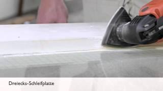 Dreiecks-Schleifplatte