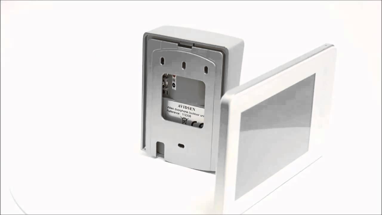interphone vid o avidsen nora blanc 112204 youtube. Black Bedroom Furniture Sets. Home Design Ideas