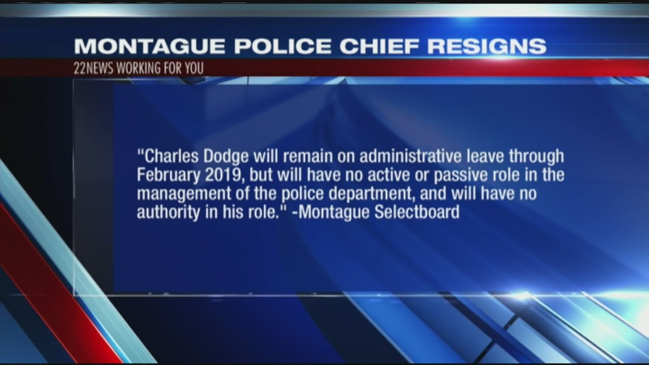 Montague Police Chief Charles Dodge to resign