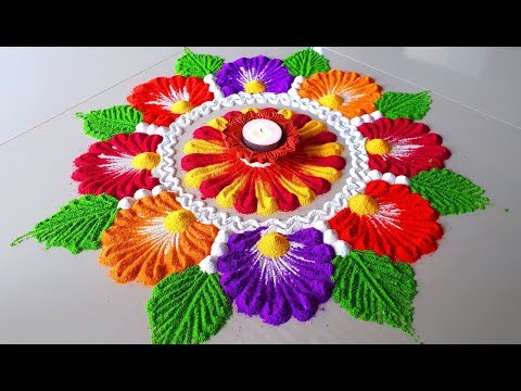 Beautiful Rangoli Designs for Diwali/इस दिवाली पर बनाये/Colourful Rangoli Designs -