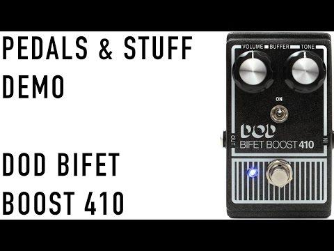 DOD Bifet Boost 410 guitar pedal demo