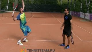 Техника подачи в большом теннисе