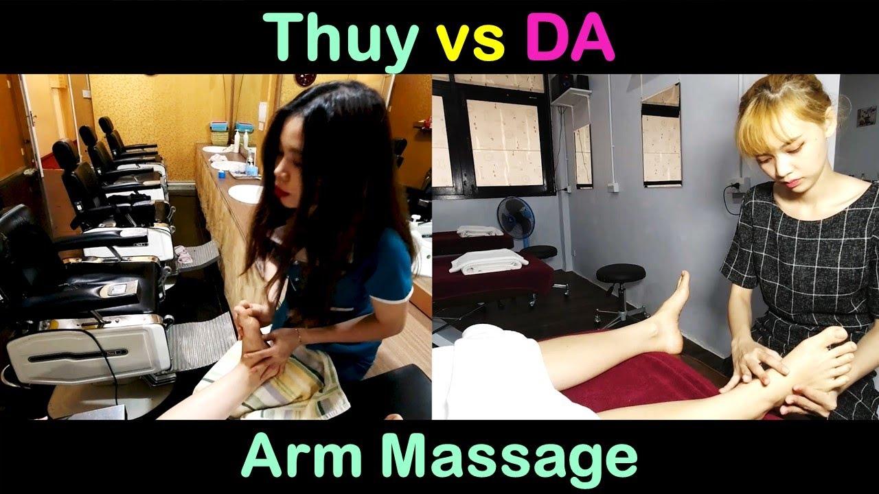 방콕 황제 이발소 - DA vs THUY 서비스 비교 (손, 팔 마사지)