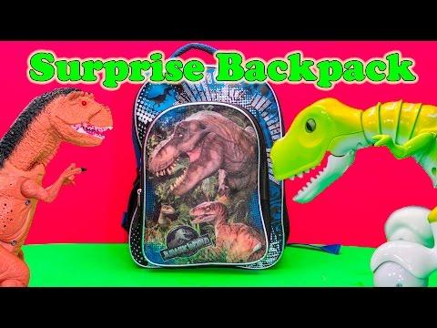 DINOSAUR SURPRISE BACKPACK Jurassic World Dinosaur Surprise Eggs + Backpack Video