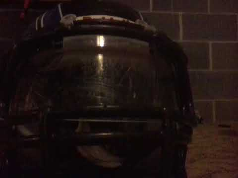 How to clean a football visor with out taking it off.