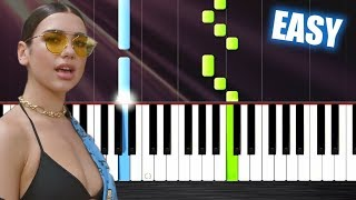 dua lipa   new rules   easy piano tutorial by plutax