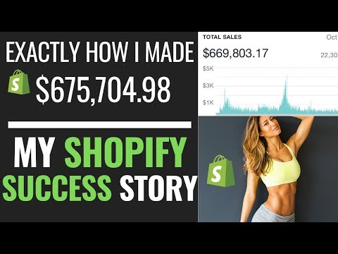 (MY STORY) $267,000 IN ONE YEAR- SHOPIFY SUCCESS STORY DROPSHIPPING 2019 thumbnail