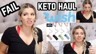 WISH KETO HAUL 🍩😐😱 + FAV KETO FOOD 🥥🍬 JASMINE HAND