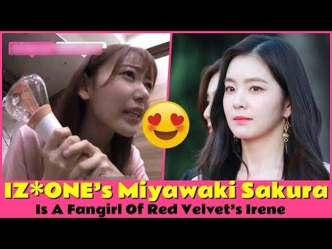 IZ*ONE's Miyawaki Sakura Is A Fangirl Of Red Velvet's Irene