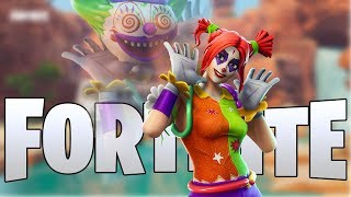 The NEW Peekaboo Clown Skin Gameplay In Fortnite..