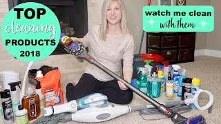FAVORITE & TOP CLEANING PRODUCTS OF 2018 | * WATCH ME CLEAN W/ THEM * | HUGE CLEANING PRODUCT HAUL!