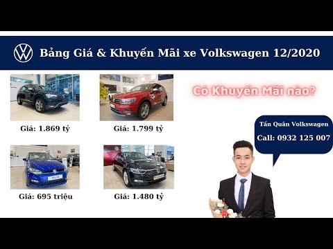Bảng giá và Khuyến mãi xe Volkswagen tháng 12/2020. Tiguan Luxury, Tiguan S, Passat BM High và Polo