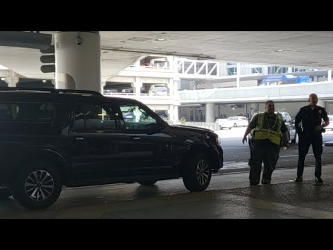 LAX  Airport police and lax security officers on   Suspicious vehicle at LAX