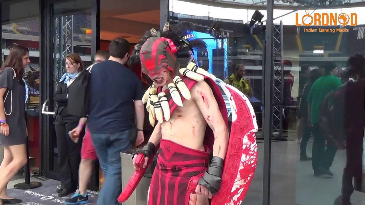 ESL One Frankfurt 2014 - DOTA 2 Bloodseeker cosplay - YouTube