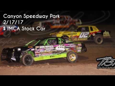 2/17/17 IMCA Stock Car Main Event Canyon Speedway Park