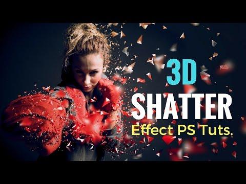 3d Shatter Effect Action ~ Photoshop Tutorial