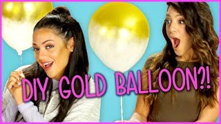 DIY Gold Dipped Balloons?! | Niki And Gabi DIY or DI-Don't