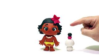 MOANA Play Doh Stop Motion and Cartoons For Kids 💕 Superhero Babies