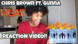 Chris Brown Ft. Gunna - Heat (Official Music Video) REACTION VIDEO !!