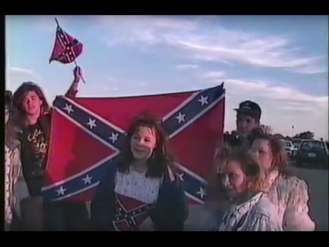Rebel Flag Racism at South West High School in Fort Worth Texas 1990