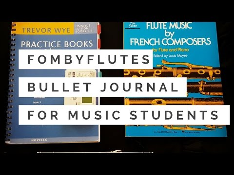 F O M B Y F L U T ES | Bullet Journal for Music Students
