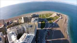 RHODES ISLAND-Part 2 The Aquarium Beach from DJI Phantom 2 Vision +