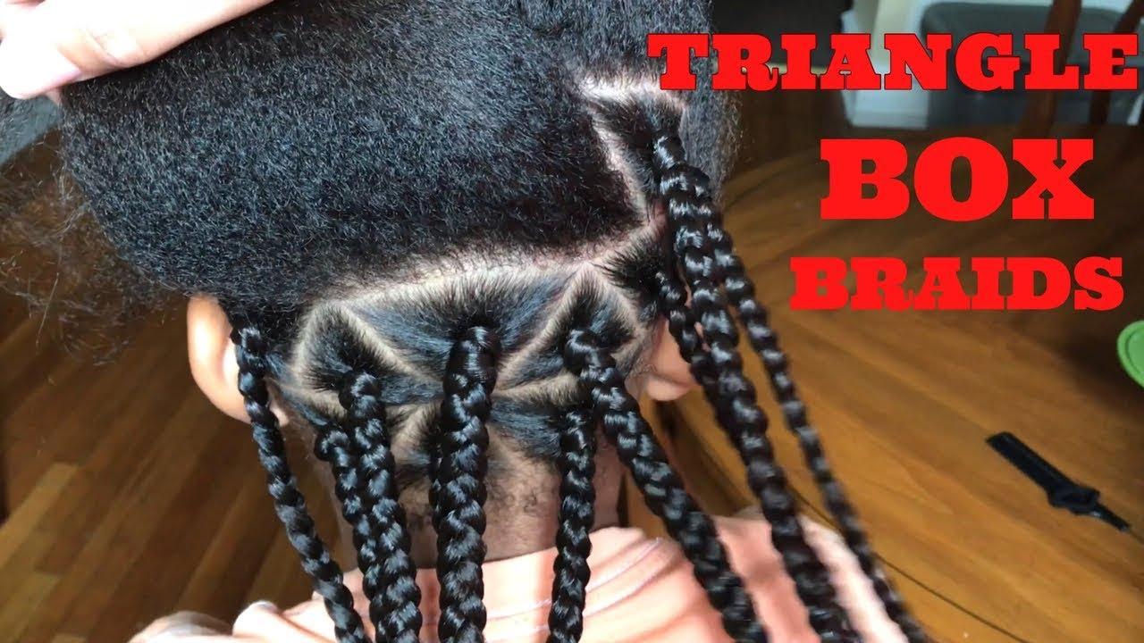 How To Triangle Box Braids Kids Youtube