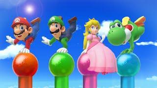 Super Mario Party MiniGames - Mario Vs Luigi Vs Peach Vs Bowser (Master Cpu)