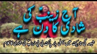 Manqbat - Aaj Zainab Ki Shaadi Ka Din Hai - Ameer Hasan Aamir - 2017