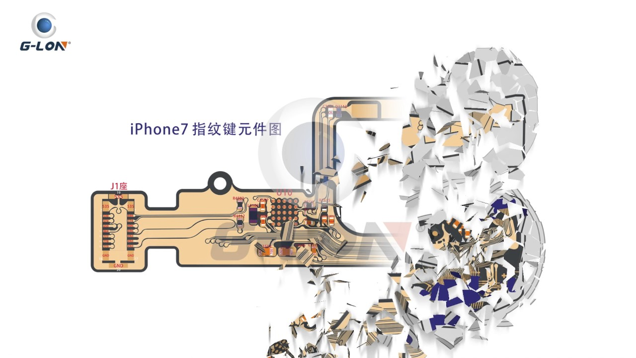 release date: 16584 6859c iPhone7 Touch ID/Home Button circuit