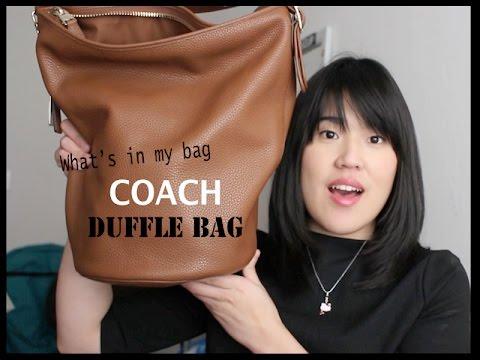 What's in my bag - Coach Duffle Bag   heyamadea